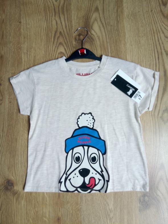 Koszulka z psem 140 146