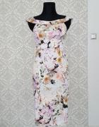 biała sukienka w kwiaty Asos...