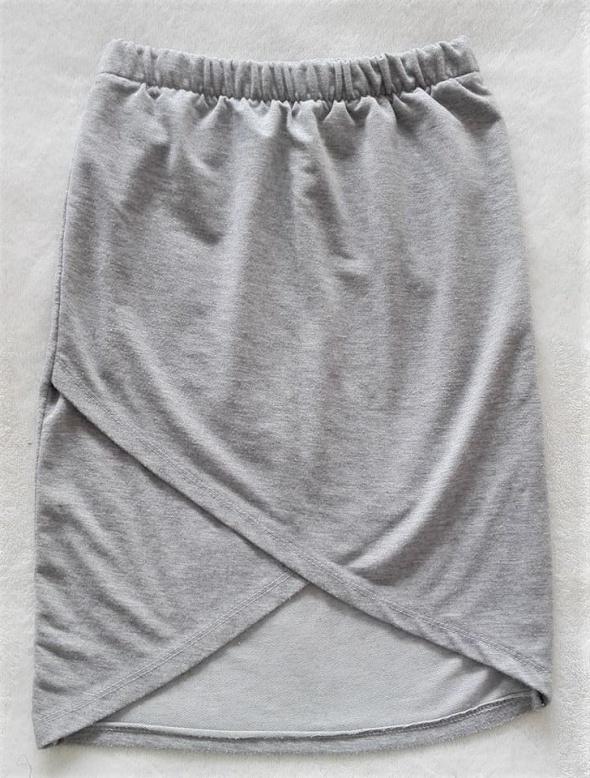 Szara siwa kopertowa zakładana spódniczka spódnica s m