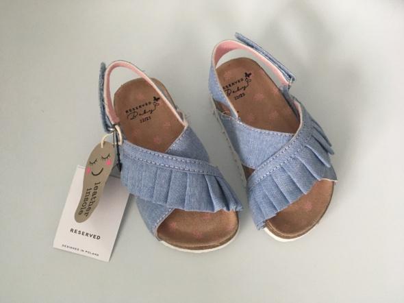 Nowe sandałki Reserved buty buciki dziecięce lato 22 23