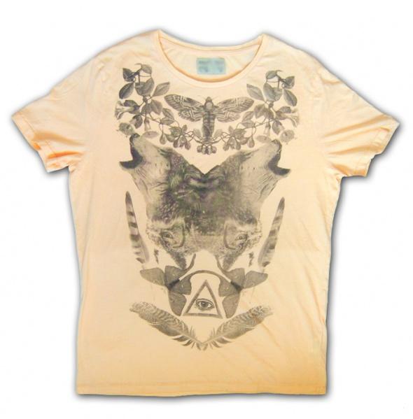XXL boho koszulka z wilkami