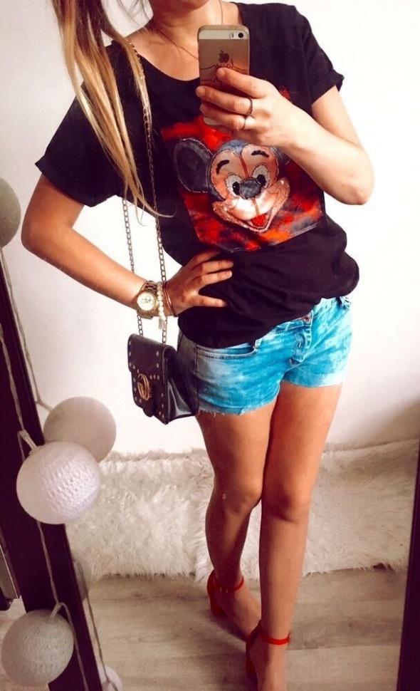 Bluzka Damska czarna Mickey M L
