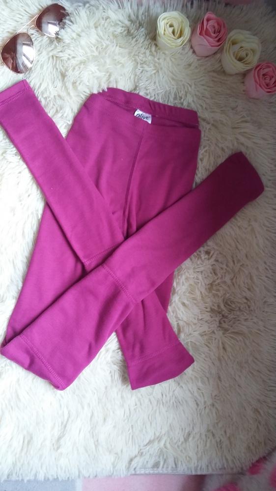 Legginsy rozowe wysoki stan spodnie S M