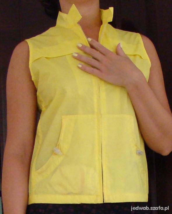 Sportowa żółta kamizelka na zamek rozmiar S