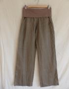 Spodnie luźne na lato z naturalnego materiału rozmiar M