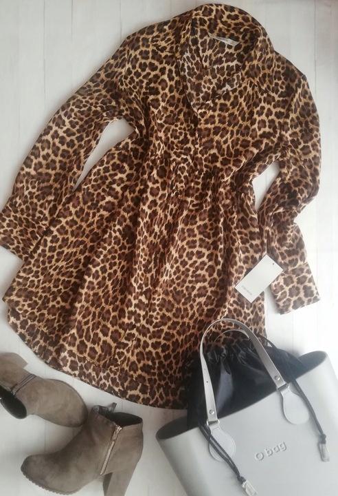 Sukienka 36 s Zara panterka leopard blogerska koszulowa...