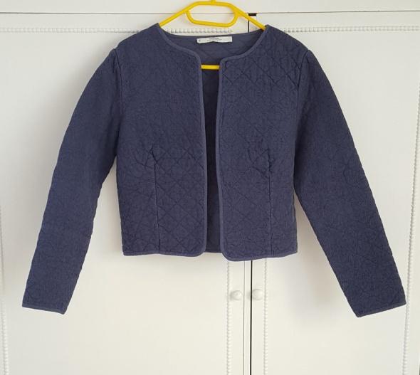 Nowa bawełniana kurtka narzutka Mango L 40 niebieska granatowa pikowana żakiet marynarka