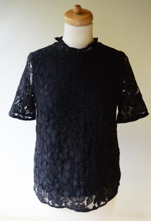 Bluzka Czarna H&M S 36 Koronkowa Koronka Wizytowa...