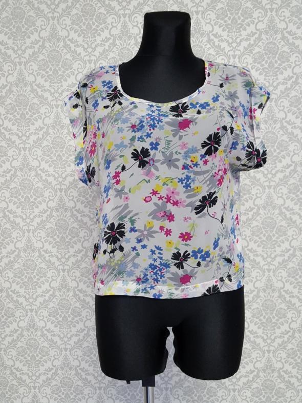popielata bluzka w kwiaty Glamorous
