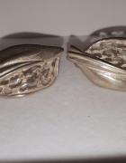 Piękne kolczyki listki ażurowe 925 srebro...