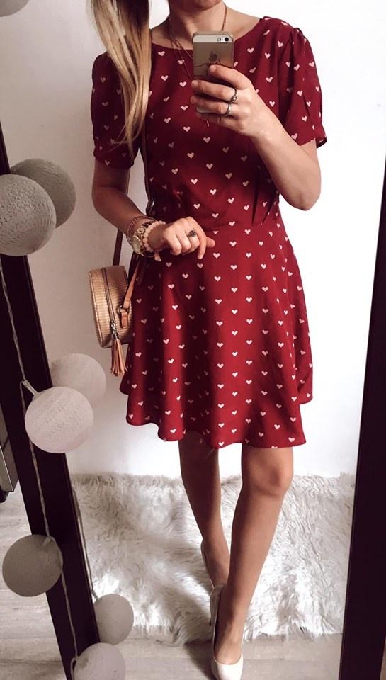 Sukienka Damska w serduszka M