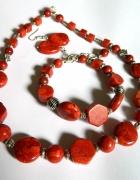 Zestaw biżuterii z korala 3 elementy...