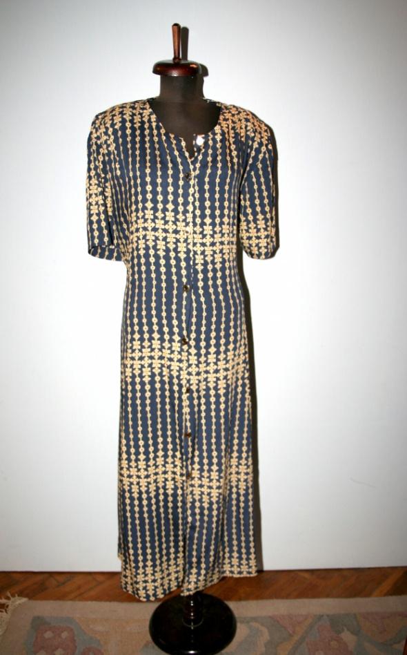 Suknie i sukienki Długa sukienka zapinana rozm XXXL