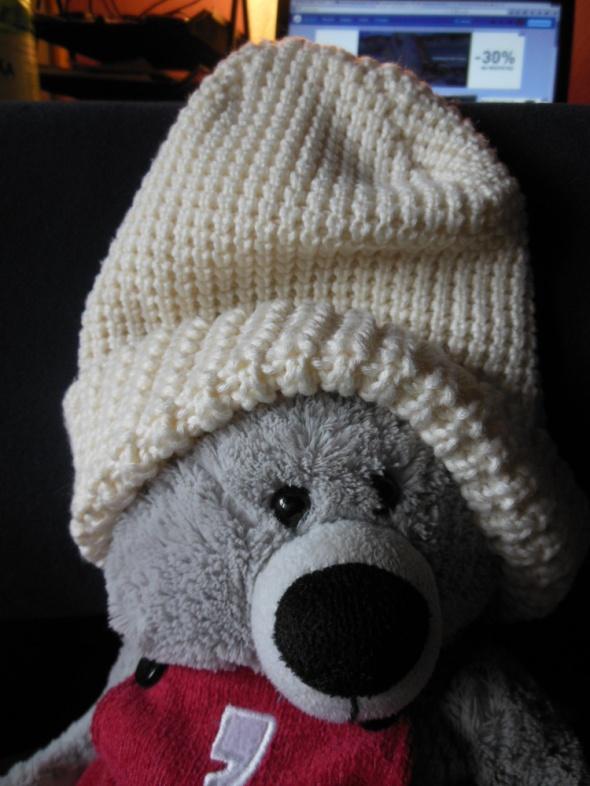 Terranowa gruba czapka zimowa ecru