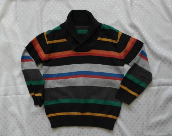 Sweterek golf w paski 98
