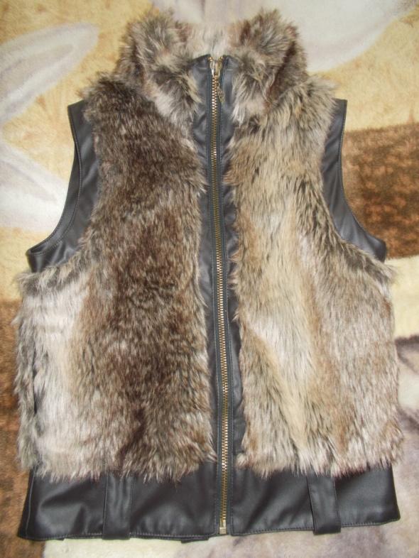 kamizelka futrzana skóra ekologiczna