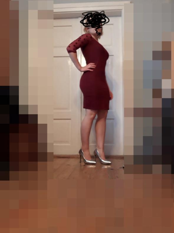 Bordowa sukienka terranova