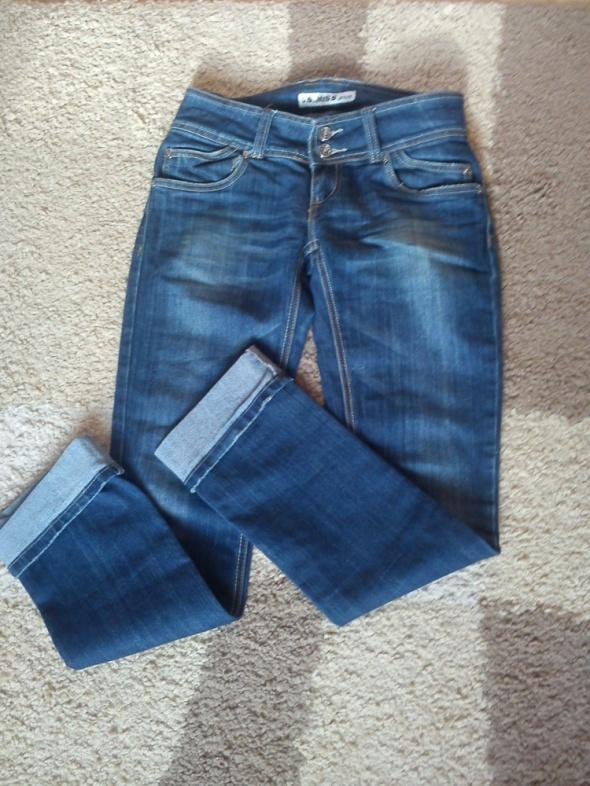 Dżinsowe ciemnoniebieskie spodnie 36 38