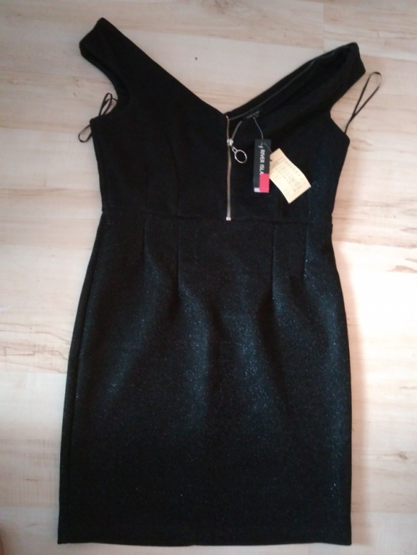 Suknie i sukienki Czarna mieniąca się sukienka na sylwestra