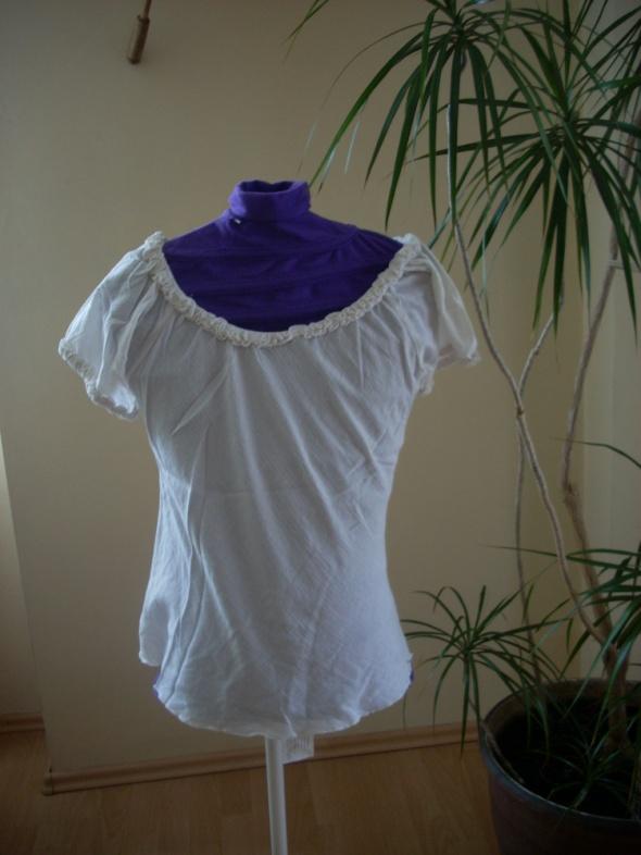 koszulka z cienkiej marszczonej bawełny M