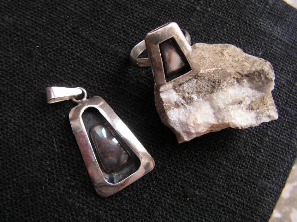 Zawieszka i pierścionek srebro
