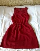 Stradivarius sukienka bordowa S...