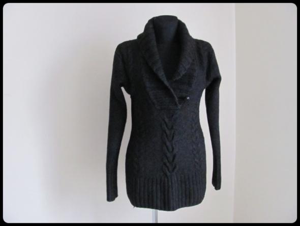 Sweter wełniany WEŁNA OWCZA 40 L H&M warkocz