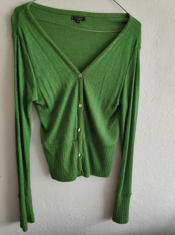 Sweter VILA XL zielony ze złotą nitką...