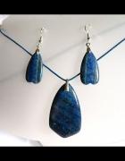 Lapis lazuli piękny zestaw biżuterii w srebrze...