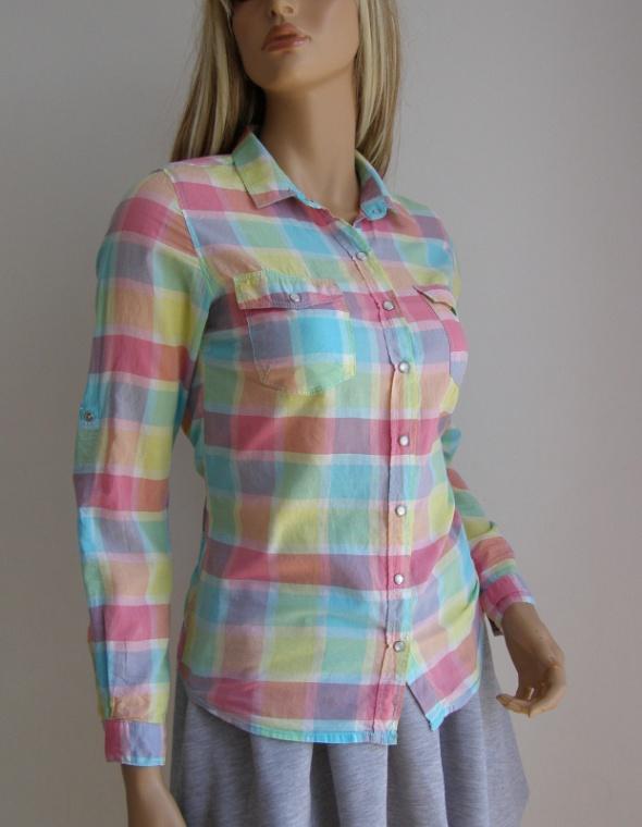 bluzka koszula Hause pastelowa kratka S 36