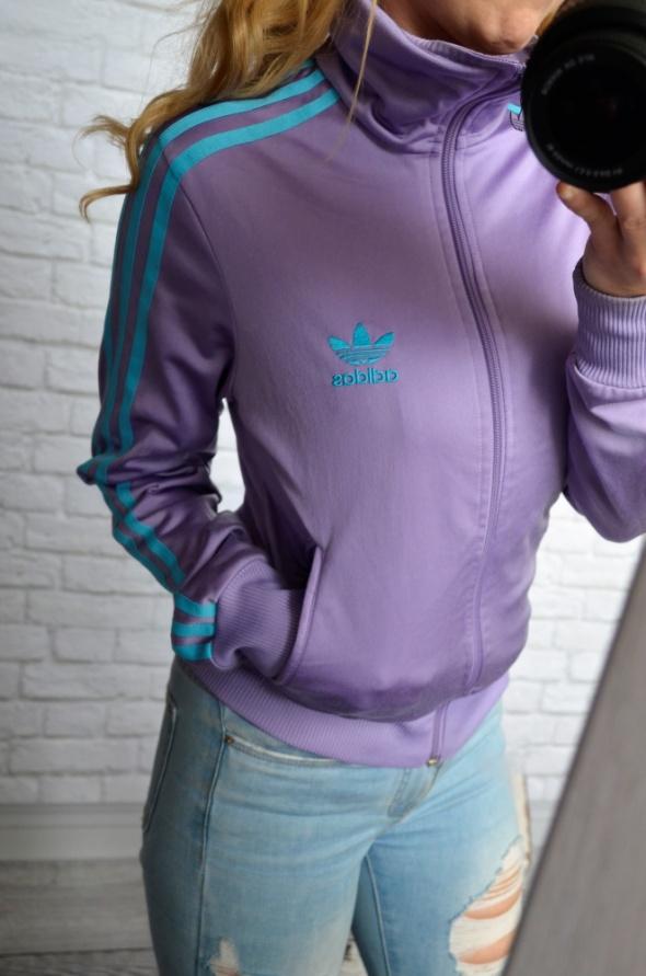 fioletowa bluza adidas sportowa w Bluzy Szafa.pl