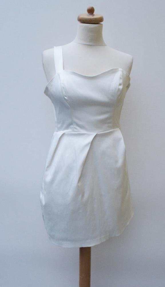 Sukienka Biała Jedno Ramię XS 34 Gina Tricot Modna...
