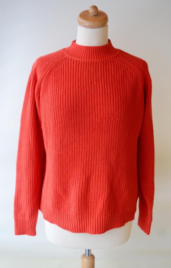 Sweter Golf Czerwony Zamek H&M M 38 Oversize...