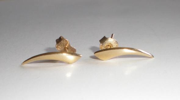 Modne kolczyki złoto 585