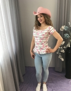 bluzka z flamingiem