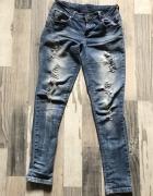 Spodnie Cropp niebieskie damskie...