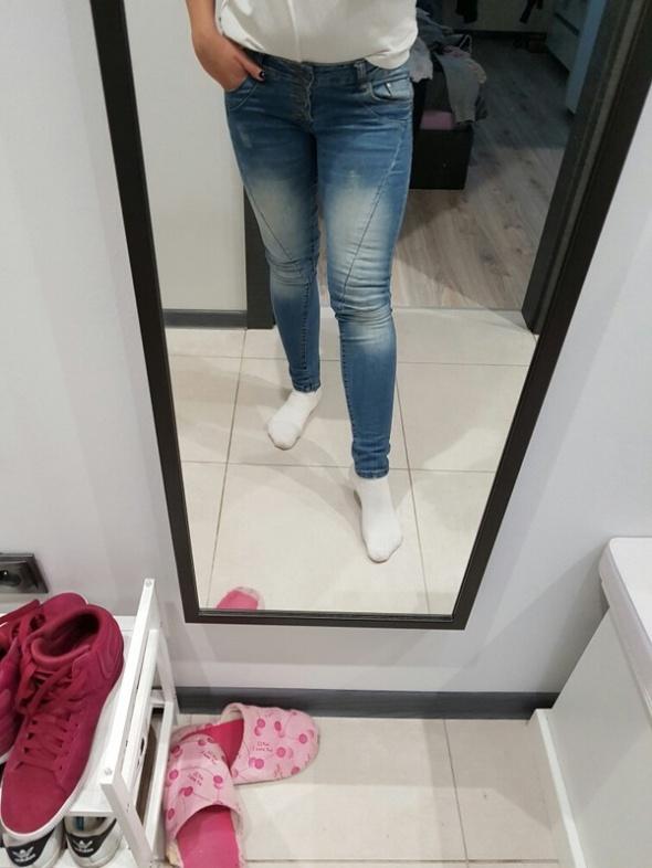 nowe rurki jeans spodnie M