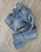boyfriend mom jeans łaty dziury S...