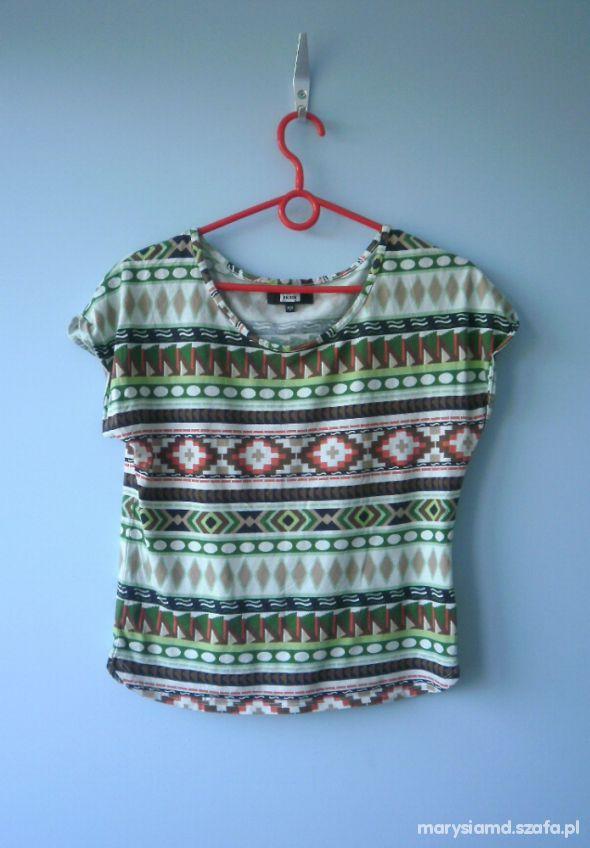 Bluzki Bik bok aztecka bluzka oversize aztec nietoperz