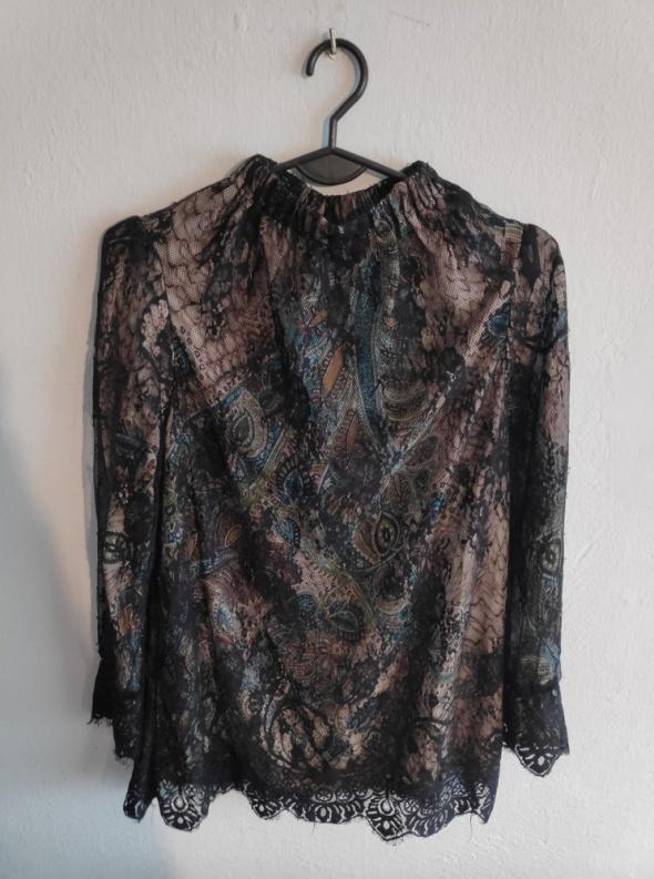 Koronkowa bluzka L