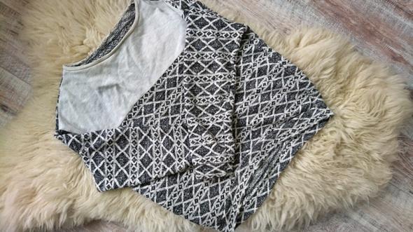 Bluzy Bluza azteckie wzory Butik M L asymetryczna