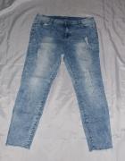 Spodnie dżinsowe jeansy z przetarciami spodnie elastyczne 44 46...