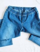 granatowe jeansowe tregginsy jegginsy...