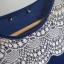 Kobaltowa granatowa bluzeczka z koronką