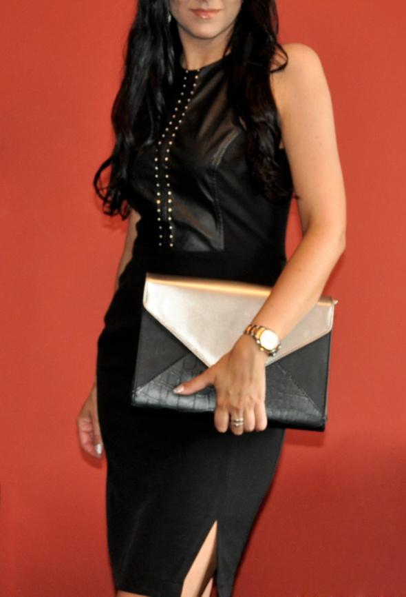 Suknie i sukienki czarna sukeinka z ćwiekami