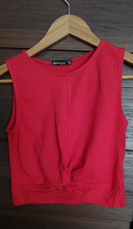 Bluzki Czerwony crop top