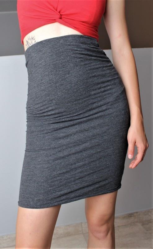 Szara spódnica ołówkowa H&M...
