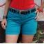 zielone jeansowe szorty