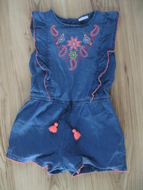 kombinezon jeans krótki F&F 110 niebieski