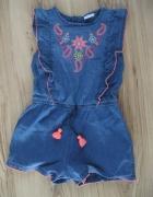 kombinezon jeans krótki F&F 110 niebieski...